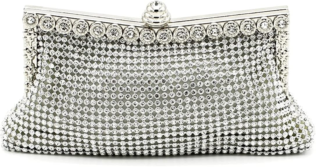 Kingluck the Rhinestone Diamond Wedding Special Occasion Evening Handbags/clutchs (silver) best dressy clutches