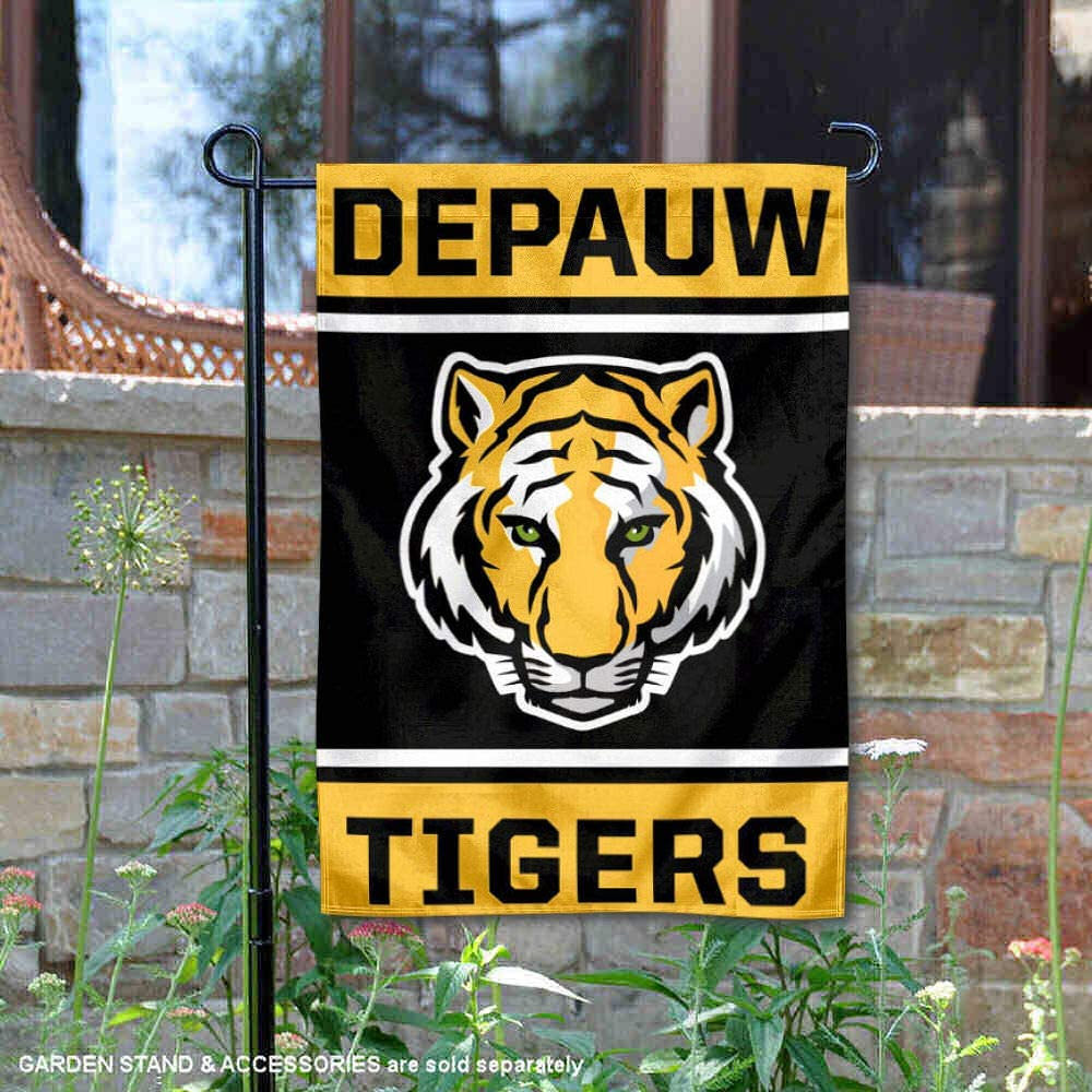 College Flags and Banners Co. DePauw Tigers 両面ガーデンフラッグ