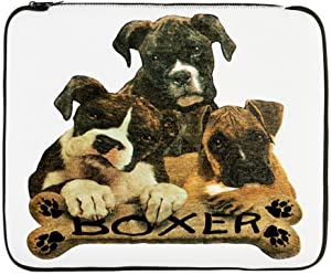 17 Inch Laptop Sleeve Boxer Trio with Bone Name Plate