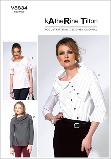 VOGUE PATTERNS V8834 - Patrones de Costura para Blusas de ...