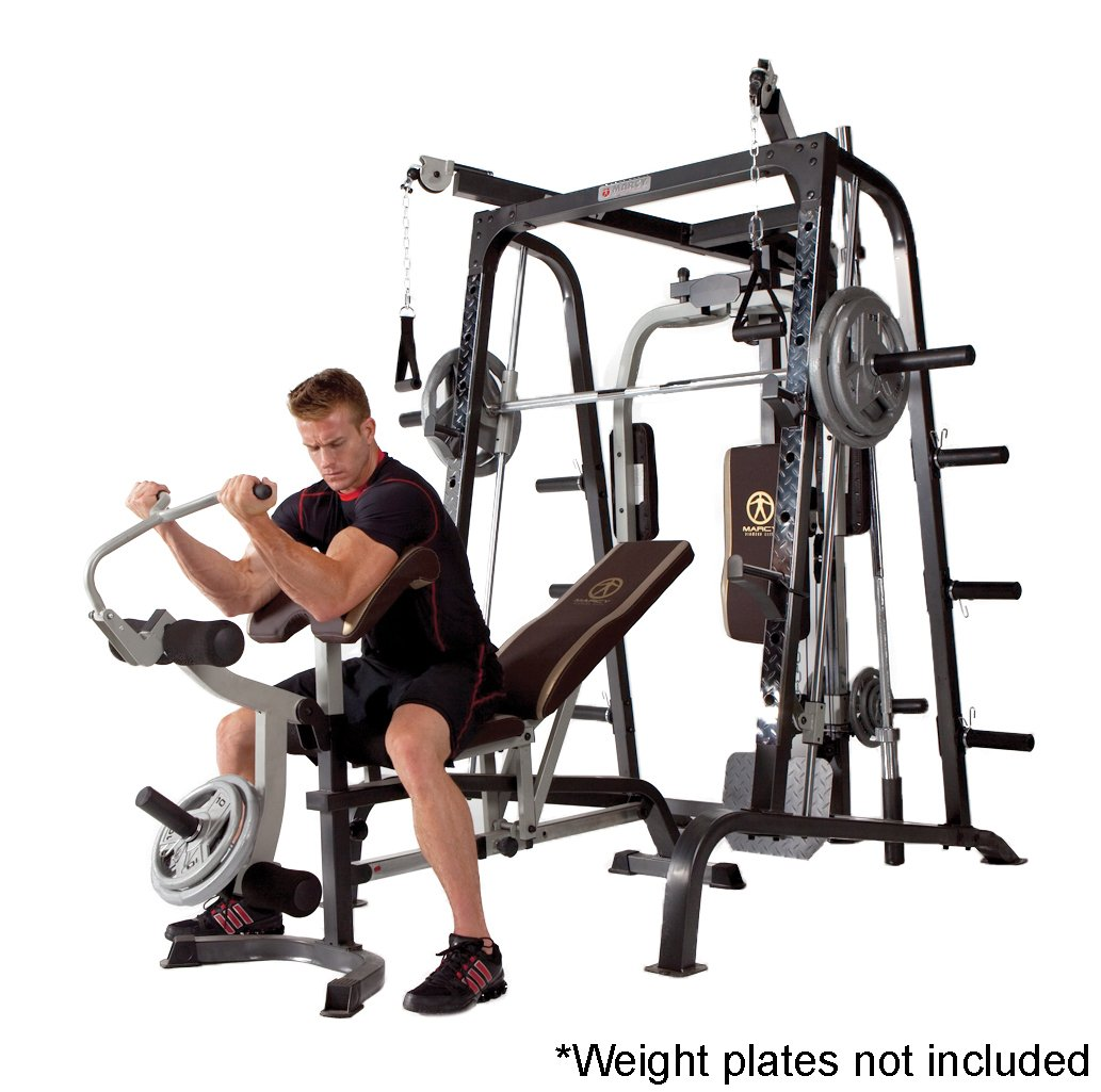 Amazon.com : Marcy Smith Cage Workout Machine Total Body Training Home Gym  System with Linear Bearing MD-9010G : Smith Machines : Sports & Outdoors