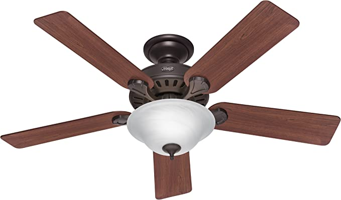 52 Decorative Ceiling Fan New Bronze Dark Walnut Medium Oak 3 Speed Amazon Com