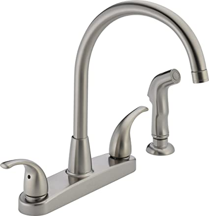 Kitchen Faucets Stainless Steel | Peerless P299578lf Ss Choice Two Handle Kitchen Faucet Stainless