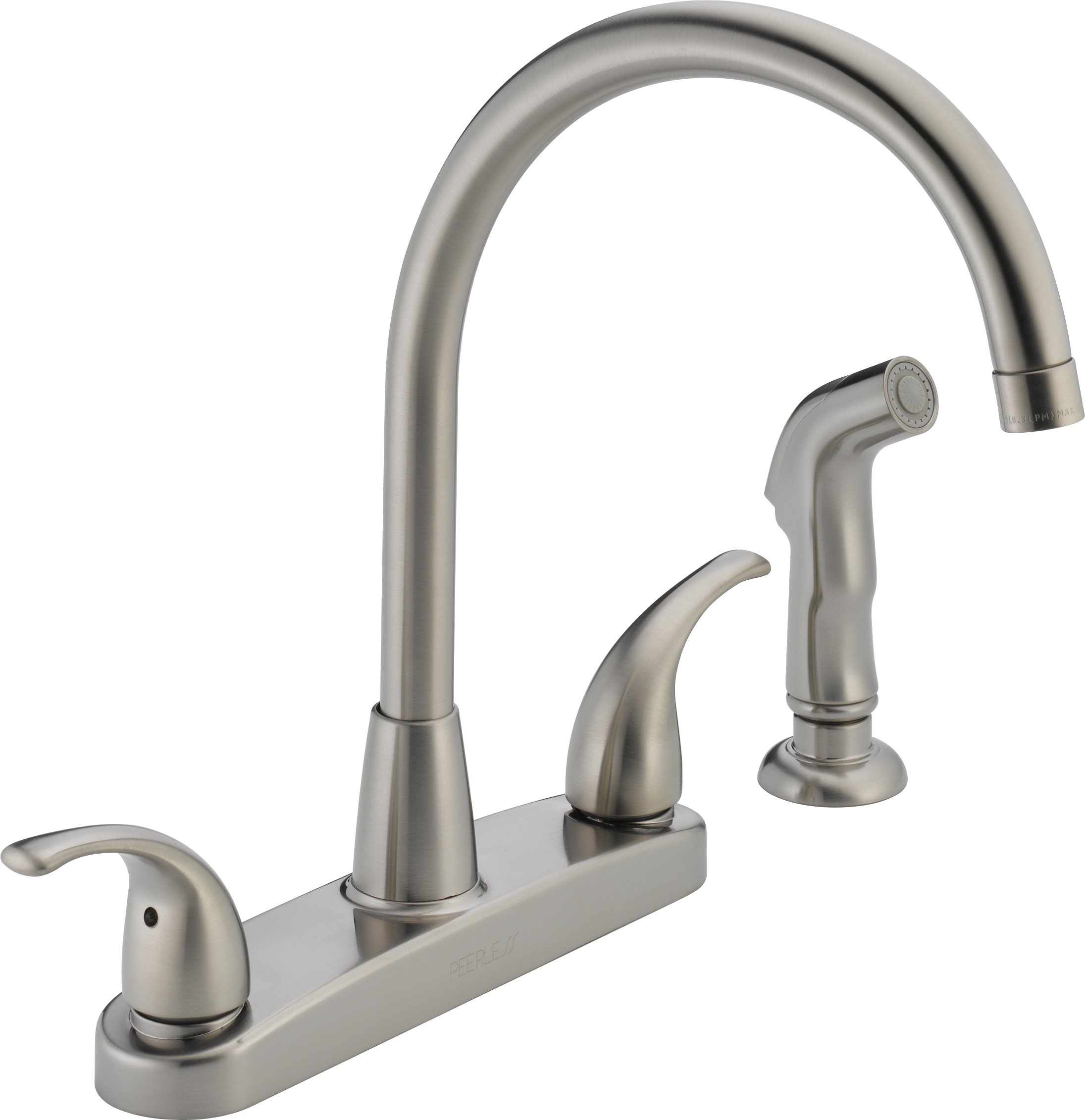 peerless p299578lf ss choice two handle kitchen faucet stainless steel - 4 Hole Kitchen Faucet
