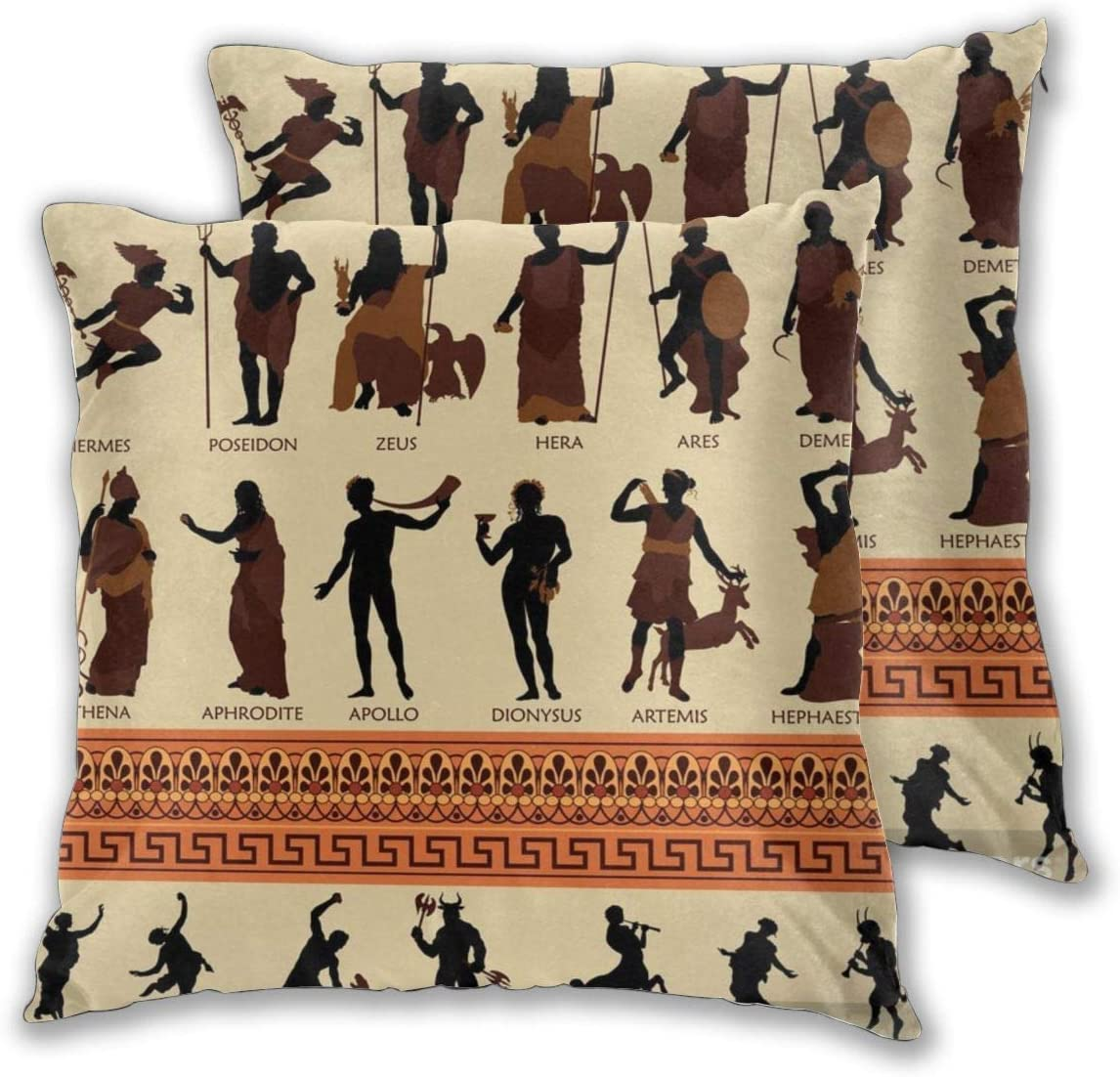 Dani House All Greek Gods And Ancient Mythology Throw Pillow Covers Cushion Cover Set Of 2 16x16 Inch Home Kitchen