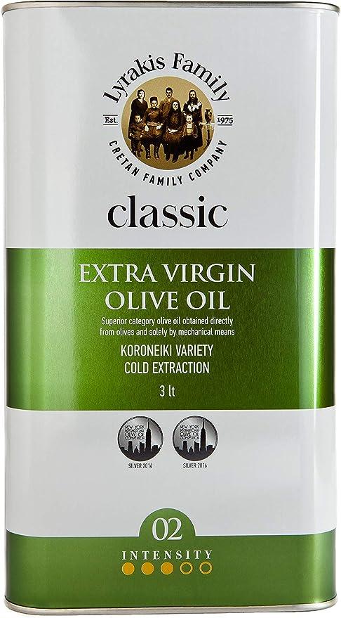 Lyrakis Family est. 1975 Olive Oil Extra Virgin Cold Pressed 3l Greek Crete Premium: Amazon.co.uk: Grocery