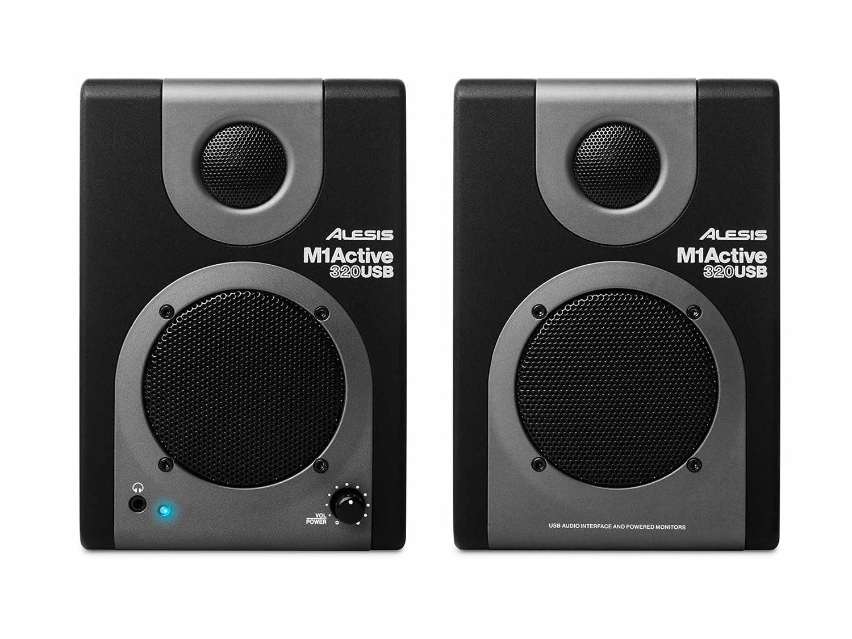 Amazon.com: Alesis M1 Active 320 USB | Full-Range Studio Monitor Desktop  Speakers with Bass Boost (Pair): Musical Instruments