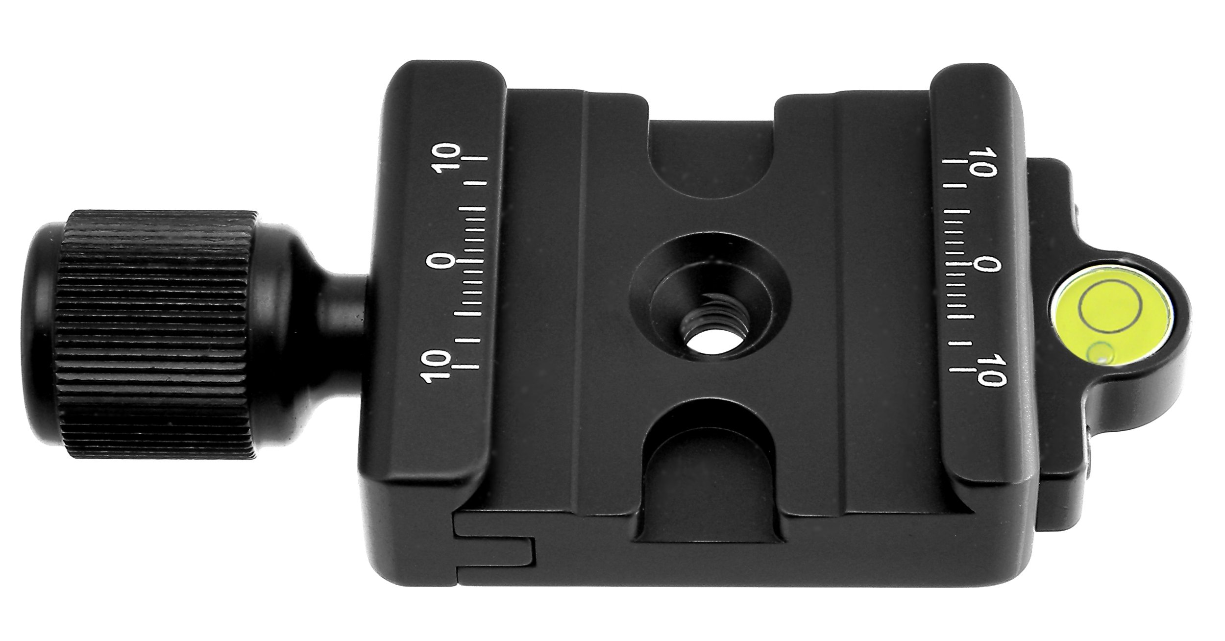 Desmond DAC-42 42mm QR Clamp 3/8'' w 1/4'' Adapter & Level Arca / RRS Compatible for Tripod Head Quick Release