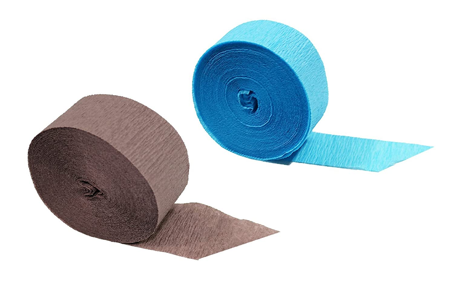 Made in USA Special Edition Crepe Paper Streamer Party Rolls 145 FEET Total Darkwood Brown, 2 Rolls