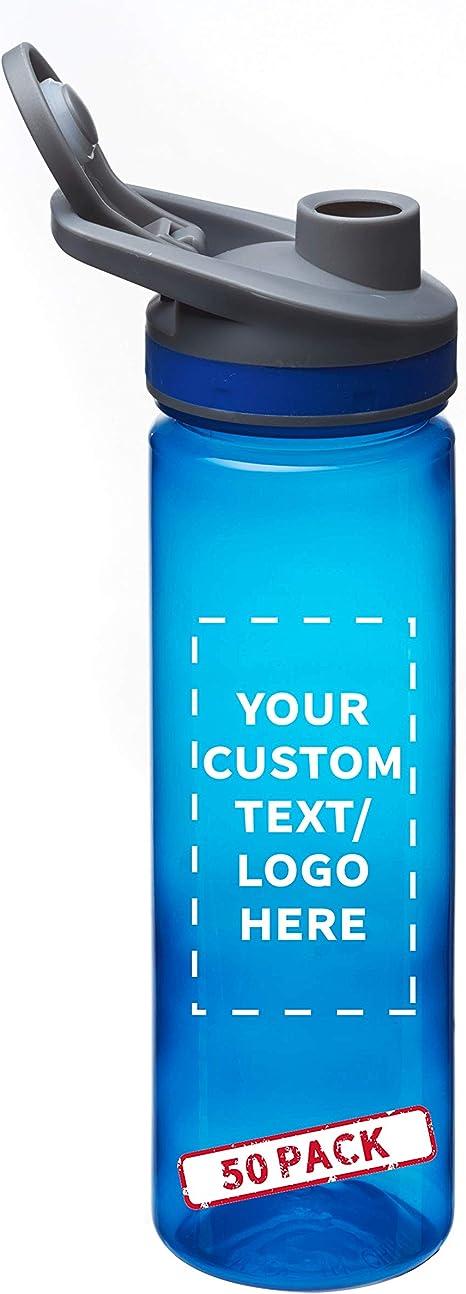 Personalised Custom Water Bottle Tritan Plastic Screw Top Gym Sports School Name