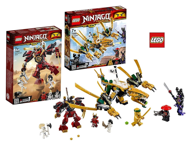 LEGO 70665 - 70666 Ninjago - Robot de Samurai, dragón Dorado ...