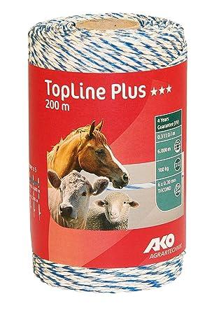 *AKO* TopLine Plus Weidezaunband Breitband 20mm gratis Versand 200m weiß//rot