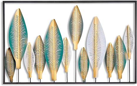 Wanddeko aus Metall Wandbild Metallbild Wandschmuck Deko Bild Wandhänger Spiegel