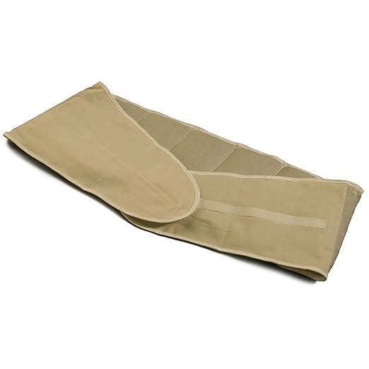 Cojín-cintura de semillas de colza con 7 compartimientos y cierre velcro | largo aprox. 135cm | blanco crudo | Cojín térmico de semillas XXL: Amazon.es: ...