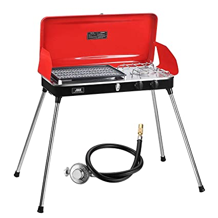 6d23696164ae6f JIMI Portable Grill for Outdoor Grilling and Camping, Portable Gas Grill  with Hose and Adapter