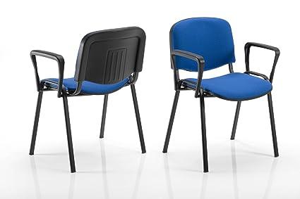 Sedie Ufficio Blu : Karisma iso imbottitob sedia in plastica casa ufficio