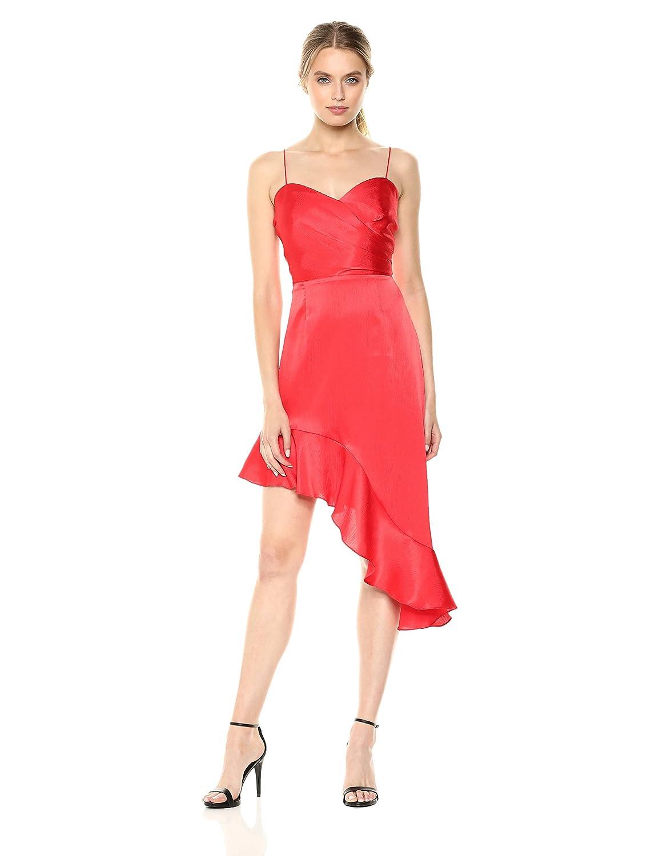 d5b6649f9 Amazon.com: findersKEEPERS Women's Retrograde Sleeveless Wrap Bodice  Asymmetric Hem Dress: Clothing