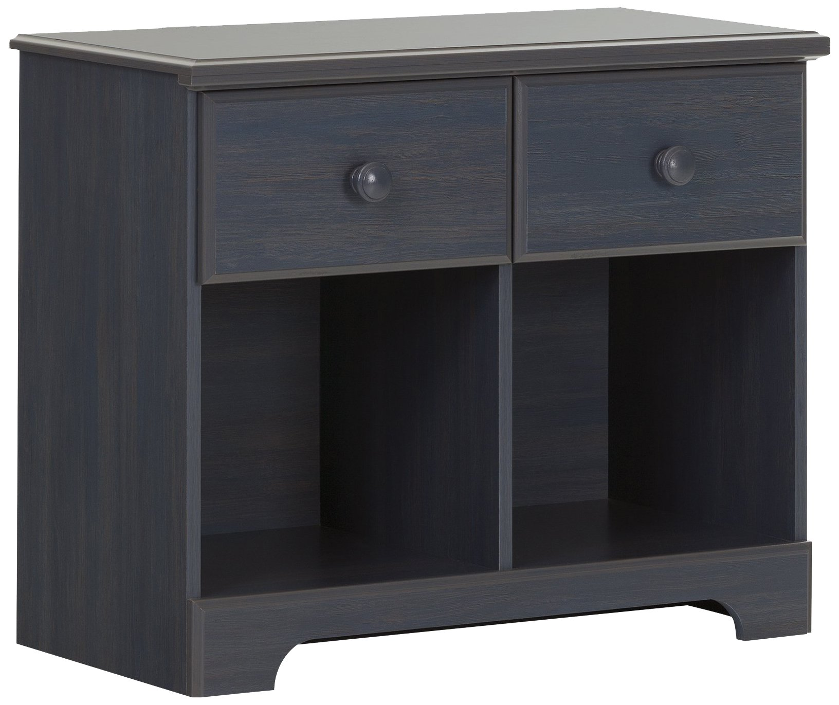 South Shore Summer Breeze 2-Drawer Double Nightstand, Blueberry
