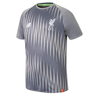 2f8e19e953b Liverpool FC 18 19 Elite Kids Matchday Football Training Shirt - Grey -  Size SB