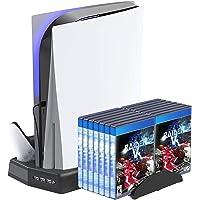 LVGOD PS5 Fbewan Accesorios Ventilador De Refrigeración Soporte Vertical Controlador De Juegos Base De Carga Soporte De…