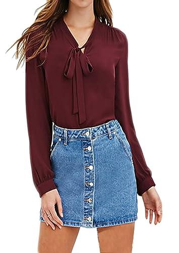 ASCHOEN - Camisas - Básico - Manga Larga - para mujer