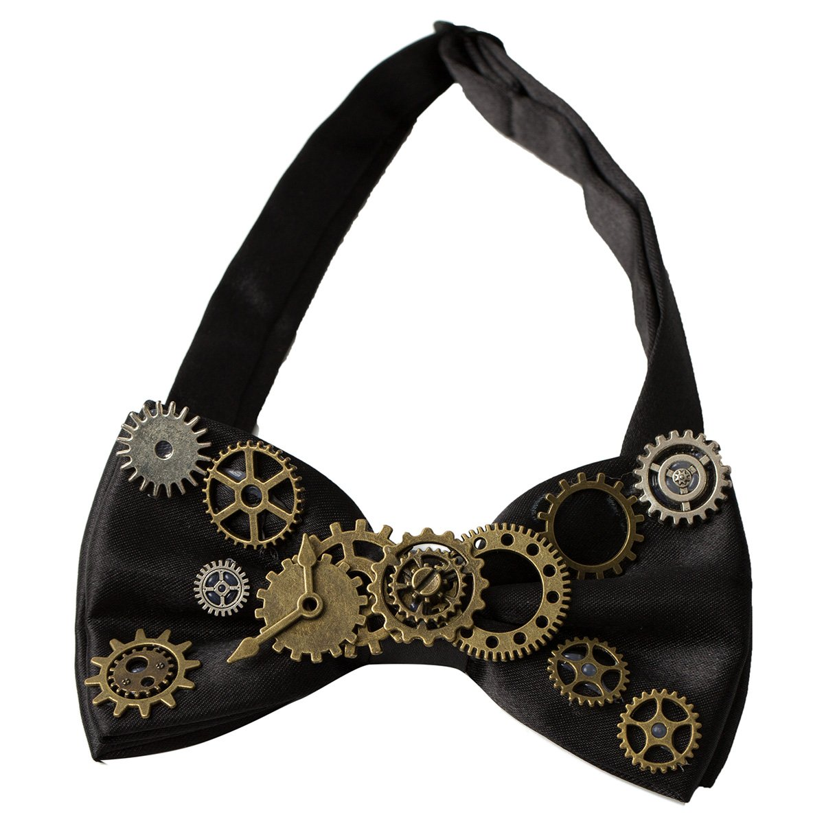 Men's Steampunk Goggles, Guns, Gadgets & Watches KOGOGO Steampunk Gears Bowtie Retro Costume Accessory  AT vintagedancer.com