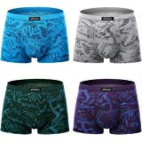 wirarpa Men's Breathable Modal Microfiber Trunk Underwear Covered Band Multipack