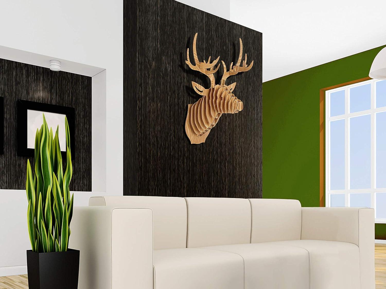 Legno MDF World Art TW60570 Puzzle 3D in legno Cervo 64x49x35 Cm
