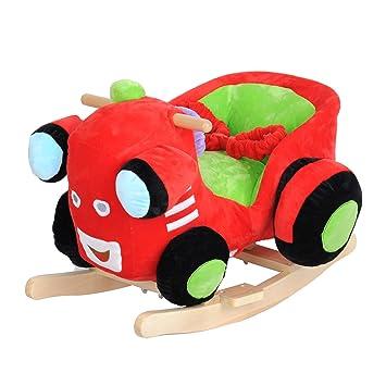 Amazon Com Dporticus Child Rocking Horse Plush Train Rocker Toy
