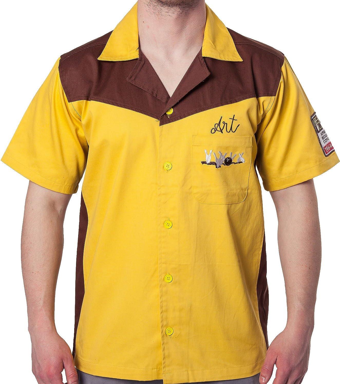 Ripple Junction Auténtica réplica Gran Lebowski Camiseta de Bolos - Amarillo -: Amazon.es: Ropa y accesorios