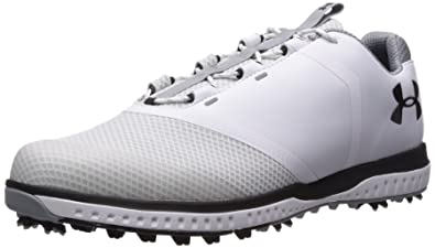 0e4f68045 Under Armour Men's Fade RST Golf Shoe, White (100)/Steel, ...