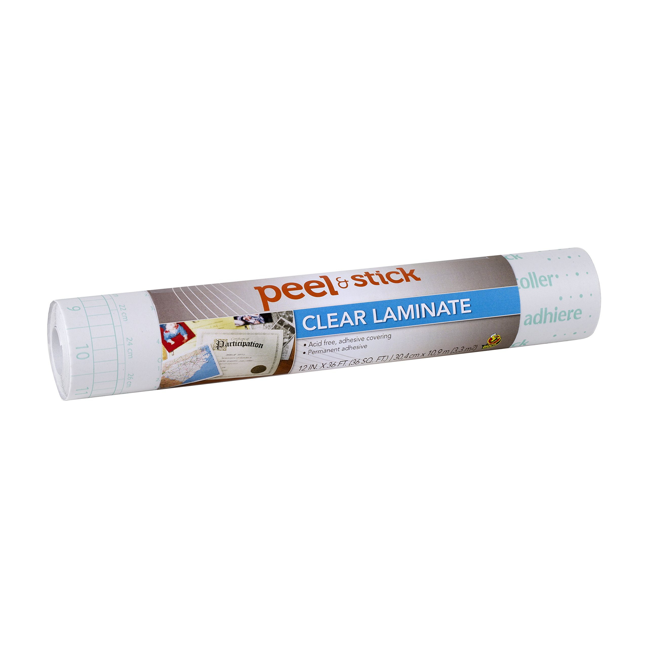 Duck Brand 1115496 Peel N' Stick Laminate Adhesive Shelf Liner, 12-Inch x 36-Feet, Clear