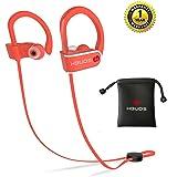 Bluetooth Headphones,Hbuds H1 Best Wireless Sports Earphones w/Mic IPX7 Waterproof HD Stereo Sweatproof In Ear Earbuds for Gym Running Workout 9 Hour Battery Noise Cancelling earbuds Headsets(Orange)