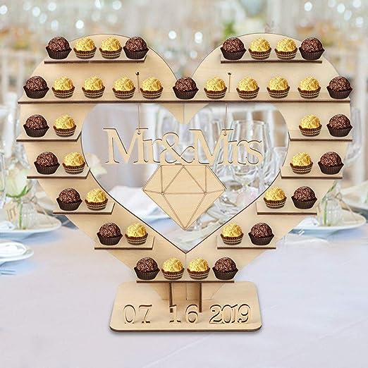 Ferrero Rocher Heart Tree Stand Wood Wedding Chocolates Decoration Display Stand