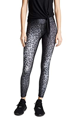 0f0e498a2e433 Terez Women's Cheetah Tall Band Leggings, Charcoal/Cheetah, Grey, Print, X