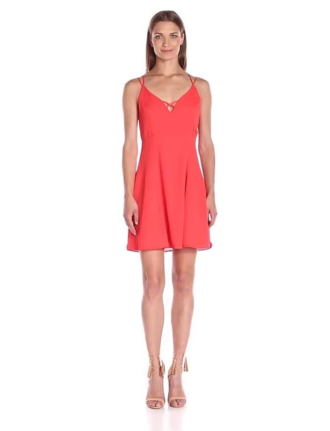 Amazoncom 19 Cooper Womens Lacefront Detail A Line Dress