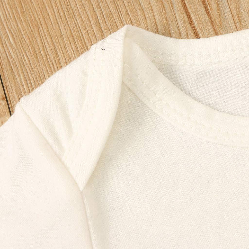 Pantaloncini in Arcobaleno Daoope 0-2 Anni 2 Pezzi Bambino Ragazzi Estive Stampa di Lettere T-Shirt Cappello 2pcs Abiti Set 3 6 9 12 Mesi Pagliaccetto Neonato Estate Maniche Corte Maglietta Tuta