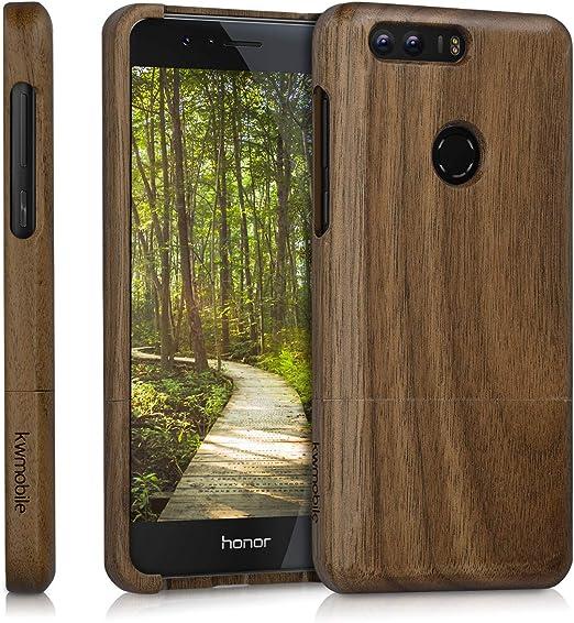 kwmobile Funda para Huawei Honor 8 / Honor 8 Premium - Carcasa Protectora de Madera para móvil - Case Duro en marrón Oscuro: Amazon.es: Hogar