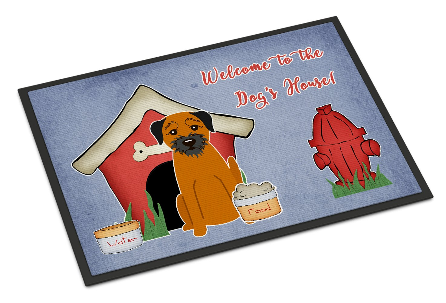 Carolines Treasures BB2793MAT Dog House Collection Border Terrier Indoor or Outdoor Mat 18x27 18H X 27W Multicolor