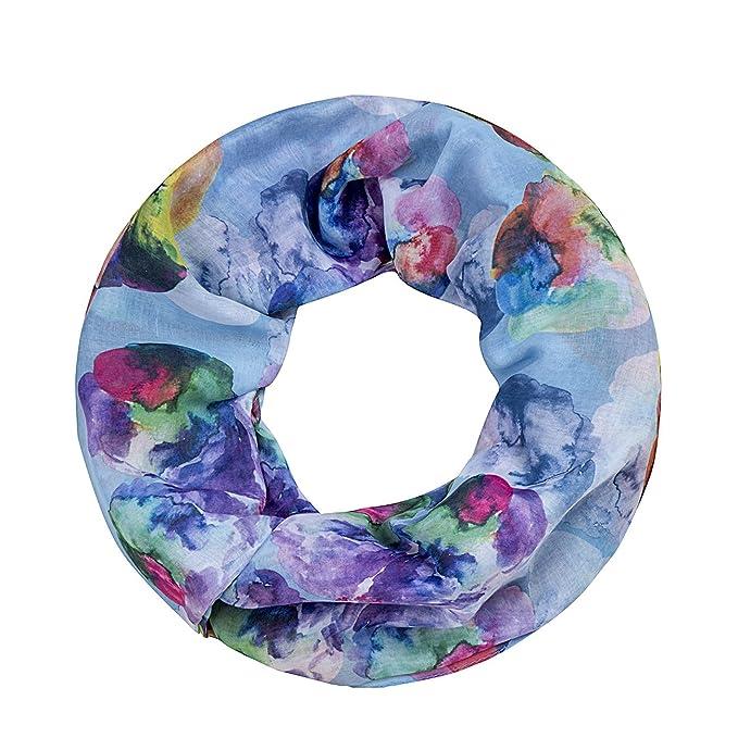 seidig leicht Damen Tuch edler Schmetterling Muster Loop Schlauchschal