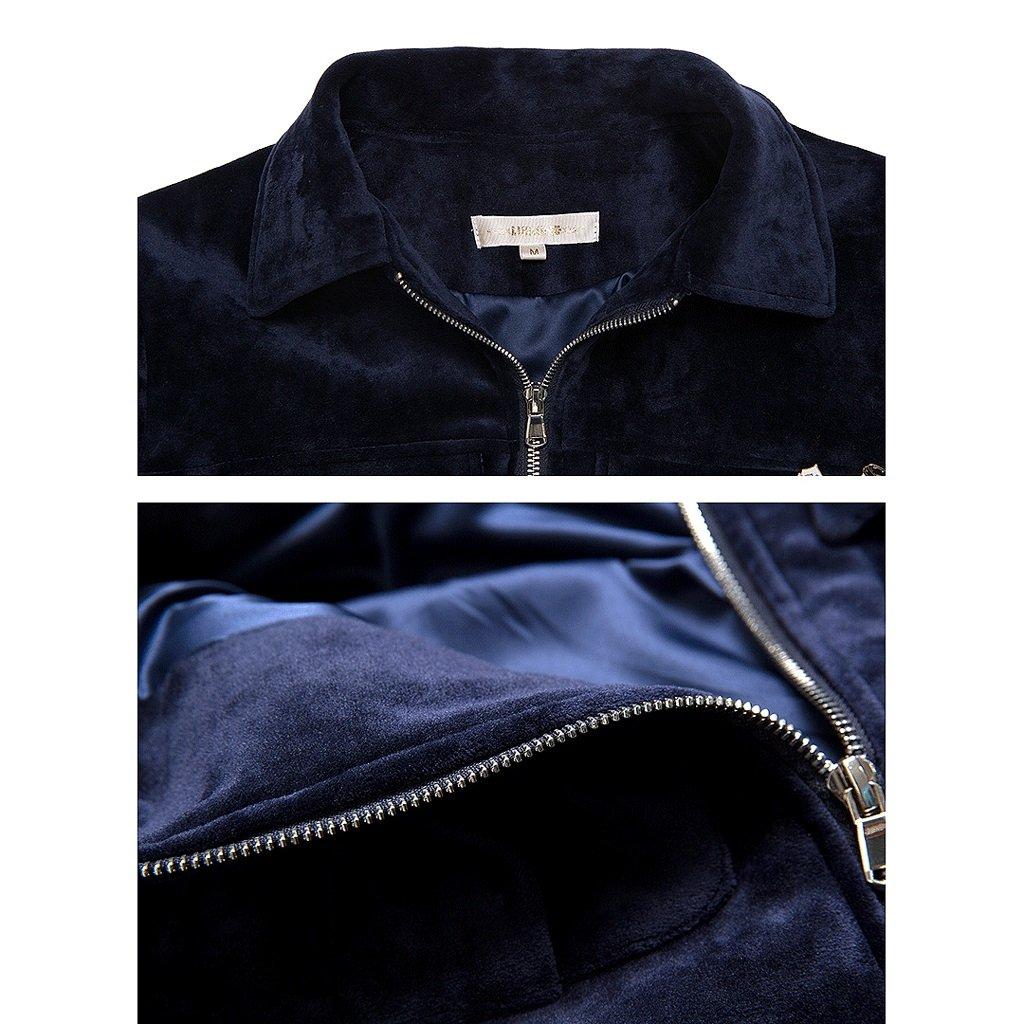 LI SHI XIANG SHOP Autumn short coat female Hong Kong style jacket shirt baseball clothing (Color : Blue, Size : M) by LI SHI XIANG SHOP (Image #6)