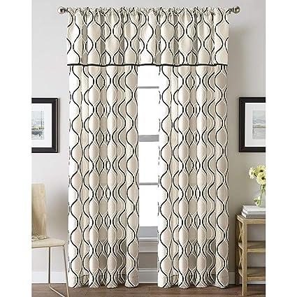 Amazon.com: HNU 1 Piece Modern Black Curtains, All Season ...