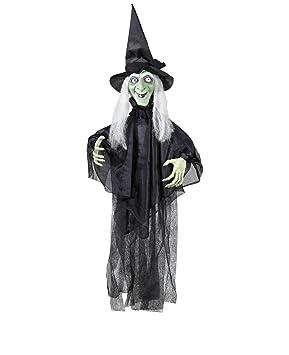 Decoration Sorciere Halloween.Widmann Generique Décoration Sorcière Animée Lumineuse Et Parlante Halloween