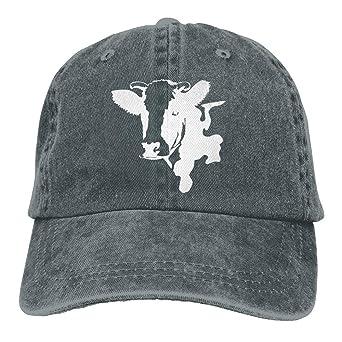 AOHOT Classic Hombre Mujer Gorras de béisbol, Sports Denim Cap Cow ...