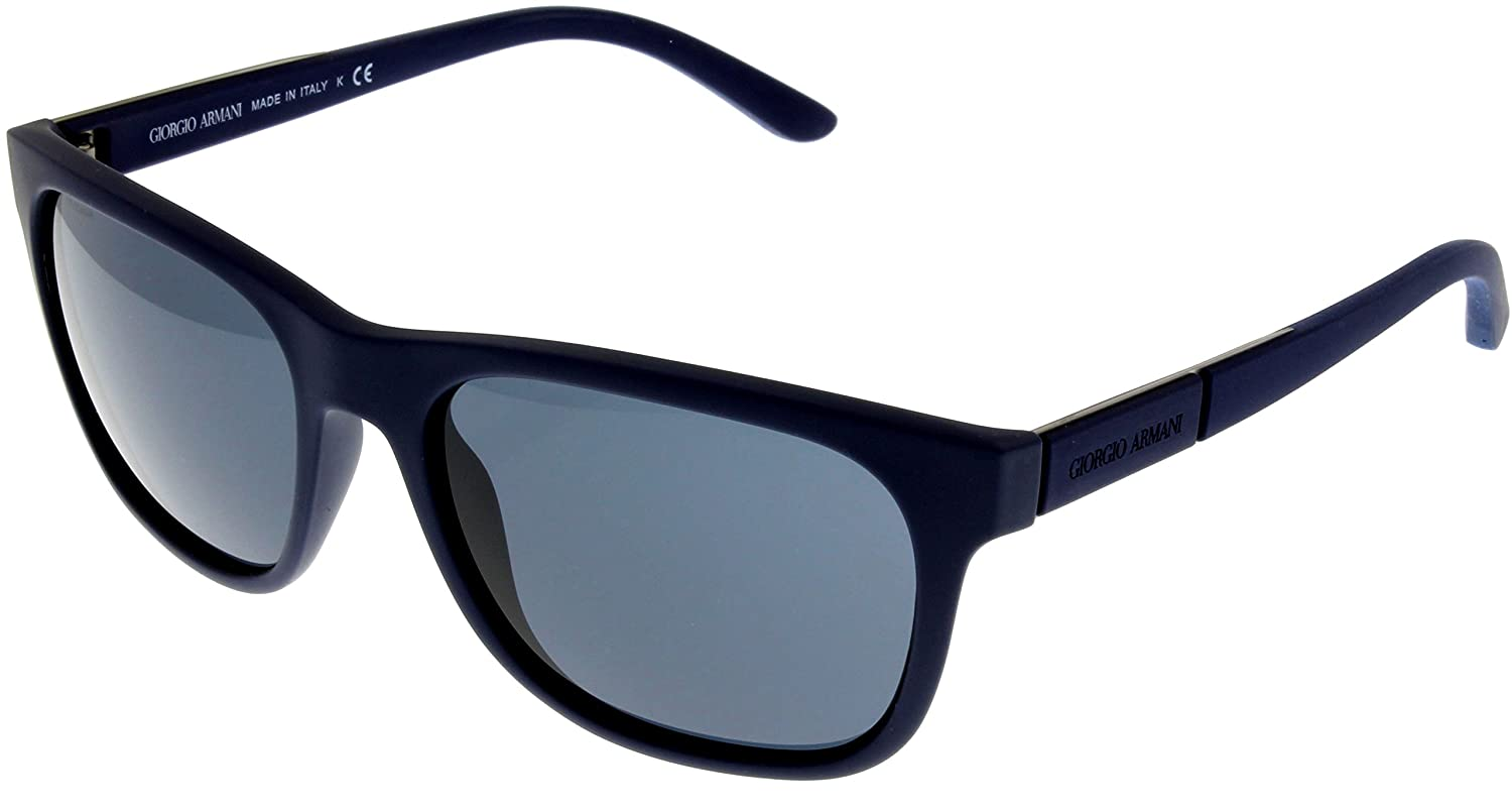 Amazon.com: Giorgio Armani Sunglasses Men Blue Rubber ...