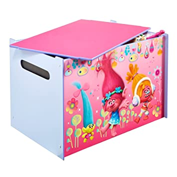 Trolls Kids Toy Box   Childrens Bedroom Storage Chest With Bench Lid By  HelloHome