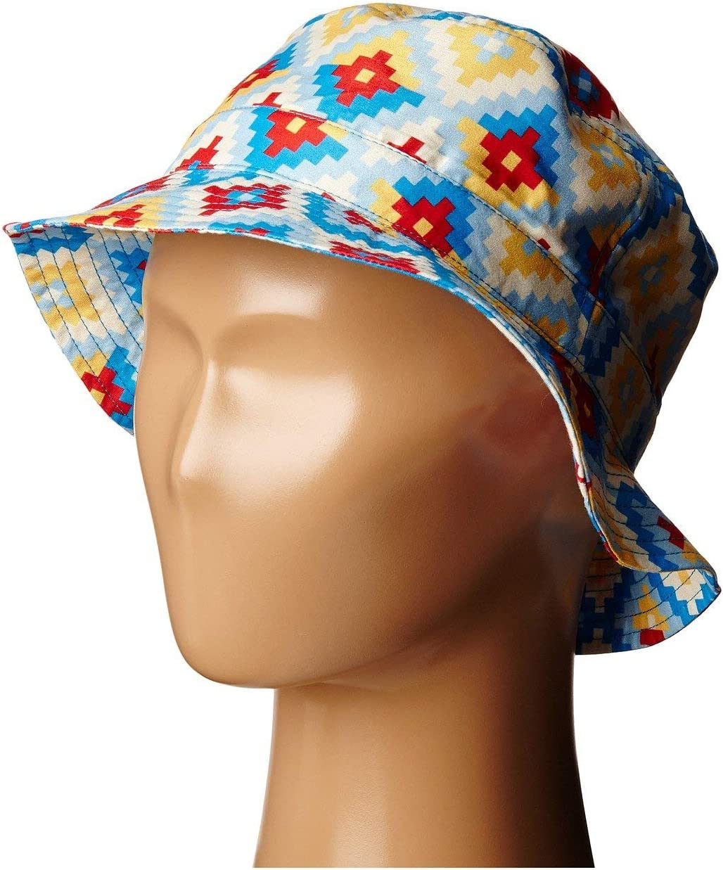 L San Diego Hat Company Kids Toddler Sublimated Bucket Hat Blue Print