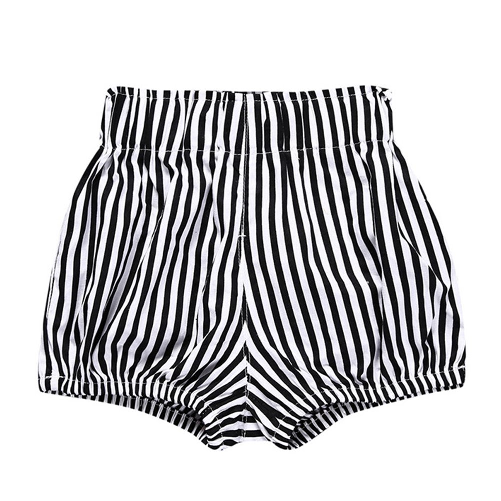Zantec Ropa para niños, Pantalones de verano de rayas sueltas de color sólido de los bebés de bebés niñas pantalones