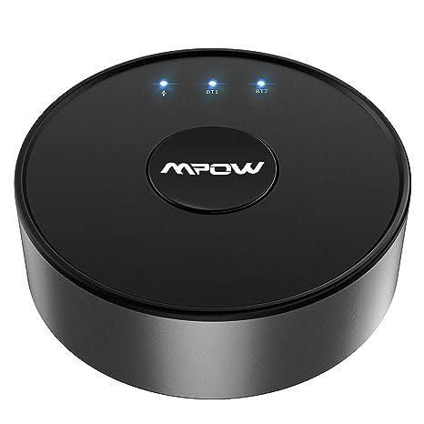 Mpow aptX Wireless Bluetooth 5.0 Transmitter for TV Audio Aux Adapter 50FT Range
