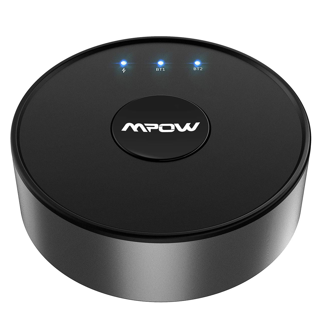 Mpow Bluetooth 5.0 Transmitter for TV, Bluetooth Audio Adapter with aptX, aptX-LL, aptX-HD for Original Voice Enjoyment, 50 Feet Range Bluetooth Kit with Hook & Loop Tape,No Battery for Always Standby by Mpow